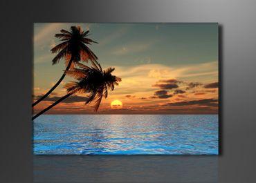 Blaues Meer und Palmen – Bild 1