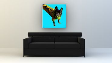 Bouledogue français Pop Art – Bild 2