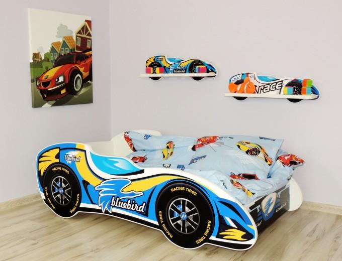 Autobett kinderbett juniorbett 140x70 cm inkl matratze abgerundete kanten ebay - Car kindermobel ...