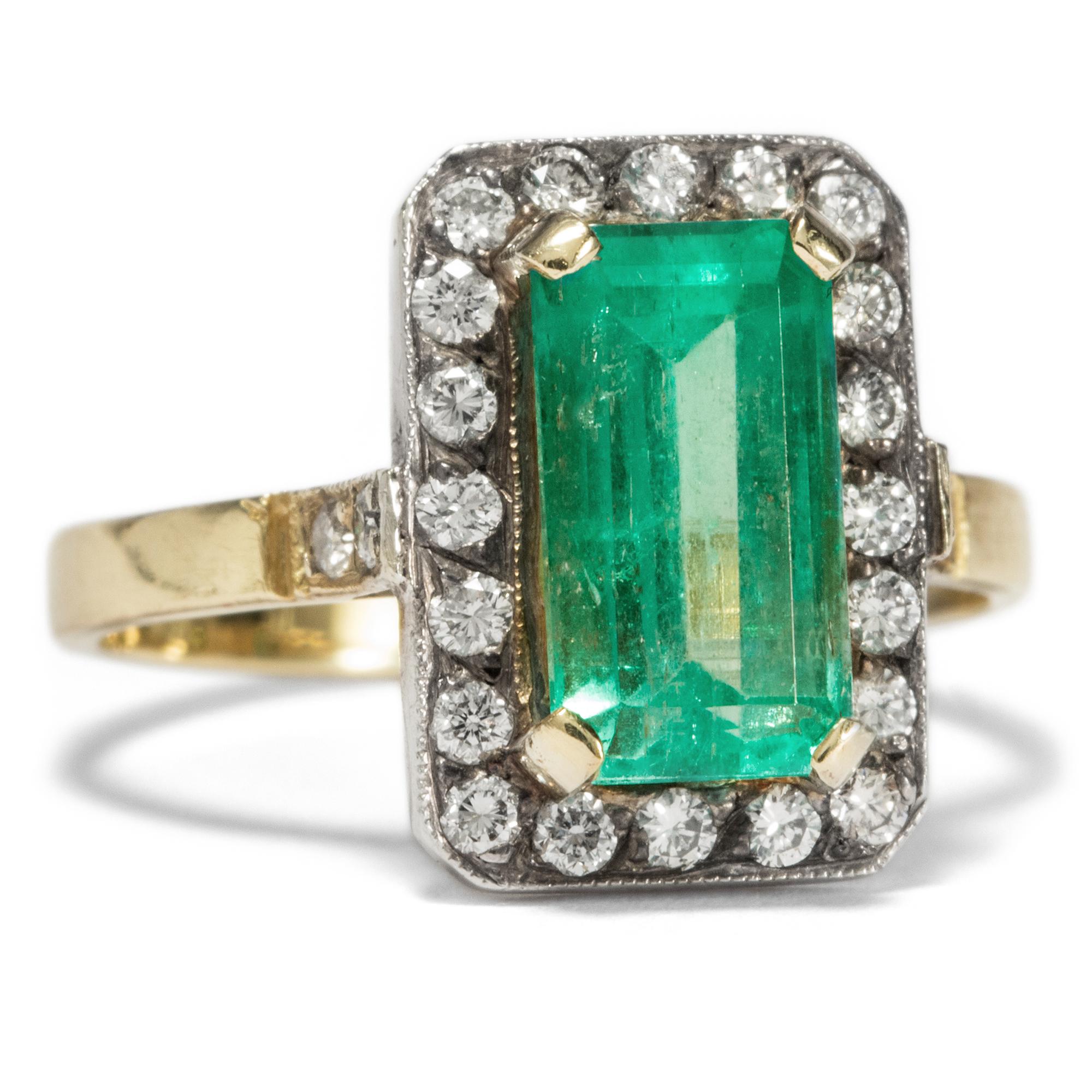 Beliebt Bevorzugt Es grünt so grün.. • Sinnlicher vintage Smaragd Ring aus Gold @RA_32