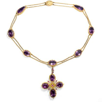 In neuem Gewand - Prächtiges Amethyst-Collier der Regency Era in Gelbgold, um 1820. Photo © 2018 Hofer Antikschmuck Berlin