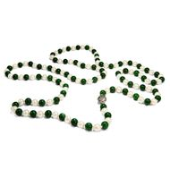 Jade Kette 126 cm lang, Collier Jadeperlen ca. 8mm dick Kugeln Nephrit necklace