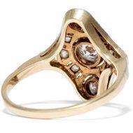 Schiffchenring des Art Déco - Antiker Ring aus Gold & Platin mit Diamanten, Deutschland 1920er Jahre. Photo © 2019 Hofer Antikschmuck Berlin