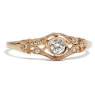 Hochfein: 750 Roségold Ring mit lupenreinem Diamant Brillant Gold Verlobungsring