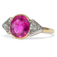 Pink Panther - Wundervoller vintage Ring mit pinkem Saphir & Diamanten, um1990. Photo © 2019 Hofer Antikschmuck Berlin