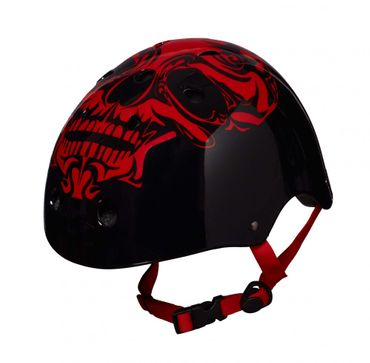 Best Sporting Skater Helm Red Skull, Größe S-L