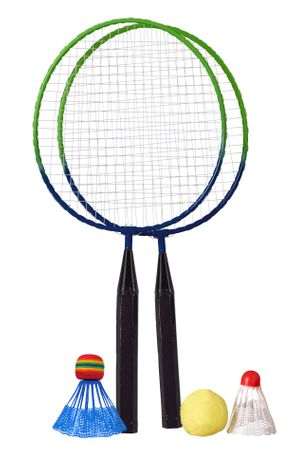 Best Sporting Mini Badminton Set mit 3 verschiedenen Bällen