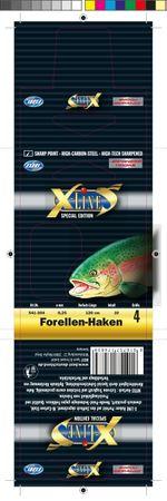 X-LINE Forellenh.Gr.12/70cm