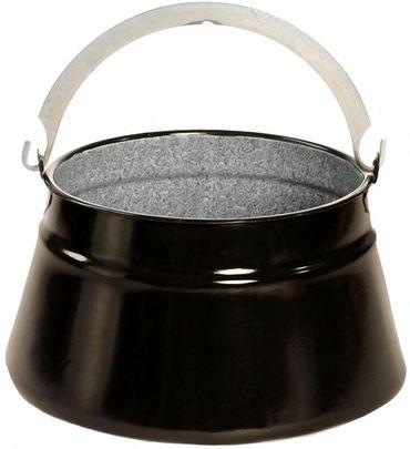 Outdoor-Kesseln Emaille Glühwein/Suppenkessel, Größe von 6-24 L, schwarz B-Ware