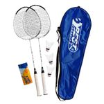 Best Sporting 200 XT Badminton Set , 2 Badminton Schläger 3 Bälle inklusive Tragetasche 001