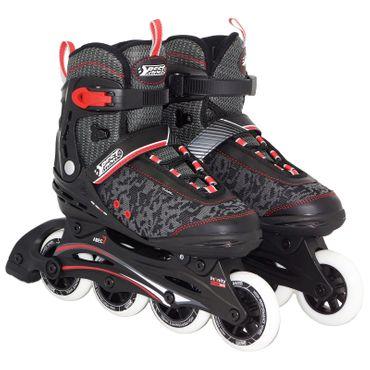 Best Sporting Inline-Skates, Größe verstellbar, ABEC 7 Carbon, schwarz/weiß/rot