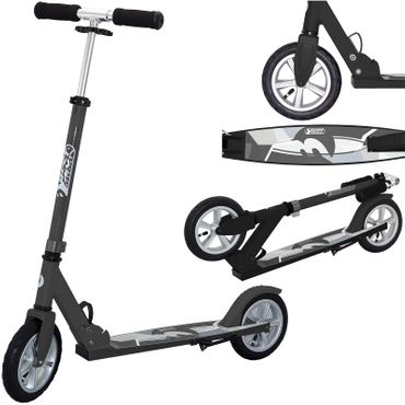 Best Sporting Big Wheel Air 205 Scooter, City-Scooter und Off-Road-Scooter in schwarz