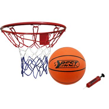 Best Sporting Basketball Set, Basketballkorb mit Basketball und Pumpe