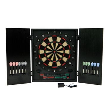 Best Sporting GLASGOW elektronische Dartscheibe, Dart-Kabinett mit LED-Display