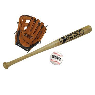 Best Sporting Baseball Set Schläger Handschuh und Baseball + Tragetasche