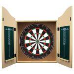 Best Sporting Dart-Kabinett Kings Head mit Sisal Dartscheibe, Dart-Schrank in Holzoptik 001