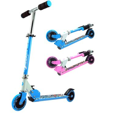 Best Sporting Big Wheel 125 Scooter dreifach 68,5 - 73,5 - 78 cm höhenverstellbarer Kinder-Roller, in pink und blau