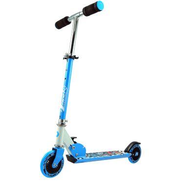 B-Ware Best Sporting Scooter 125er Rolle Kinderroller blau, höhenverstellbar