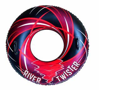 Bestway aufblasbarer Schwimmring mit Griffen, 107 cm schwarz-rot