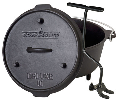 Dutch Oven Camp Chef Deluxe DO-10 Gusseisen-Kochtopf – Bild 1