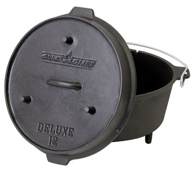 Dutch Oven Camp Chef Deluxe DO-12 Gusseisen-Kochtopf – Bild 2