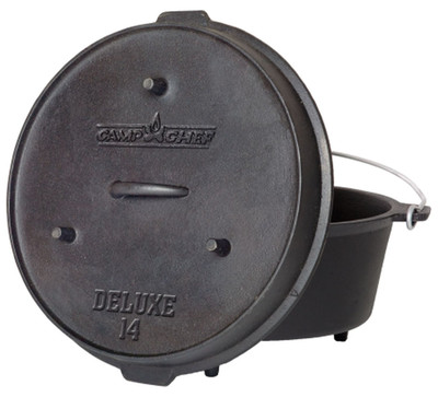 Dutch Oven Camp Chef Deluxe DO-14 Gusseisen-Kochtopf – Bild 1