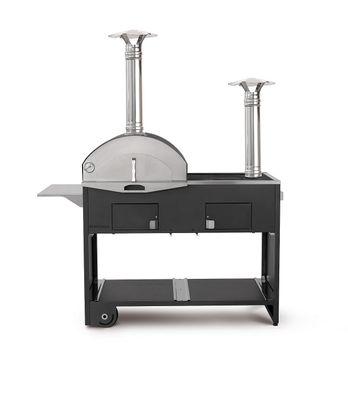 Holzbackofen | Pizzaofen Fontana Doppio mit Grill- und Koch-Funktion
