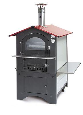 Holzbackofen / Pizzaofen Fontana Rosso 80x54 – Bild 1