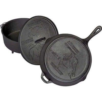 "Dutch Oven und Pfanne Gusseisen Set Camp Chef Nationalpark 12"" – Bild 1"