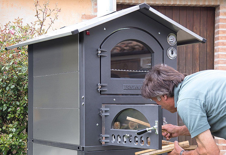 Mobiler holzbackofen pizzaofen fontana gusto 57 - Ofen im wintergarten ...