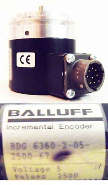 Balluff Incremental Encoder BDG 6360-2-05-2500-67 Drehgeber -used-