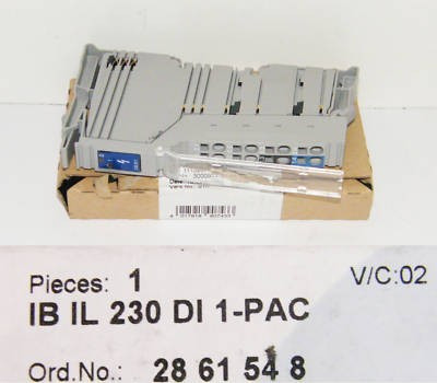 PHOENIX CONTACT IB IL 230 DI 1 PAC  No. 2861548  - unused - in OVP
