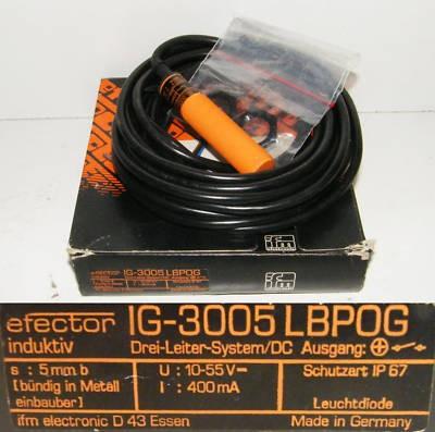 ifm efector IG-3005LBPOG  IG3005LBPOG -unused/OVP-