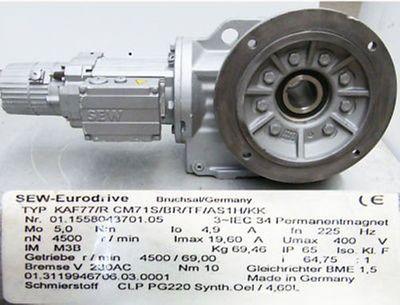 SEW-Eurodrive KAF 77/RCM71S/BR/TF/AS1H/KK Getriebemotor