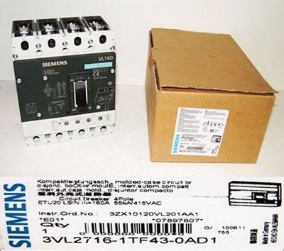 Siemens 3VL2716-1TF43-0AD1 3VL2 716-1TF43-0AD01 Kompaktleistungsschalter -unused