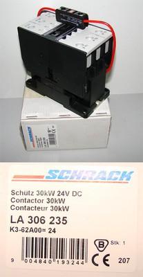 Schrack LA306235   LA 306 235 30kW 24V DC Schutz Contactor -unused/OVP-