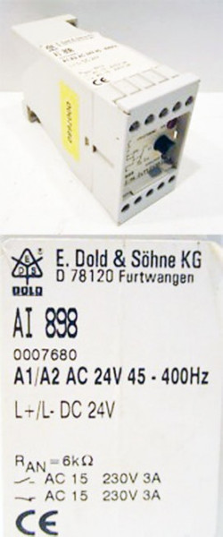 E. Dold AI 898 0007680 Isolationswächter A1/A2 AC 24V 45-400Hz -used-