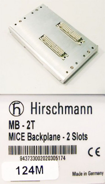 Hirschmann MICE Backplane 2 Slots MB-2T MB2T -used-