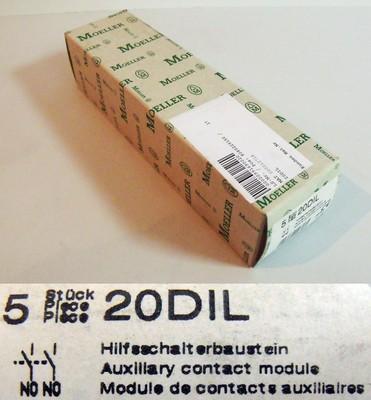 5x Moeller 20 DIL 20DIL Hilfsschalterbaustein -unused-OVP-