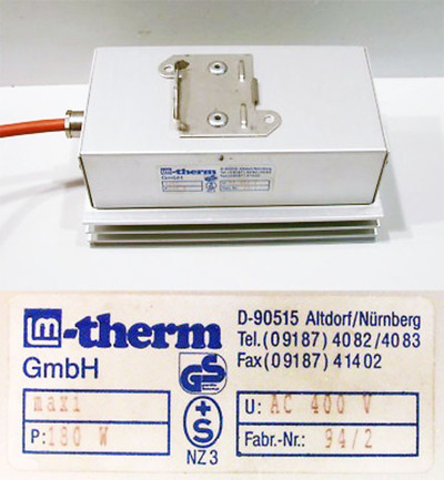 LM-therm MAX1   MAX 1 Schaltschrankheizung AC 400  / 180 W -used-