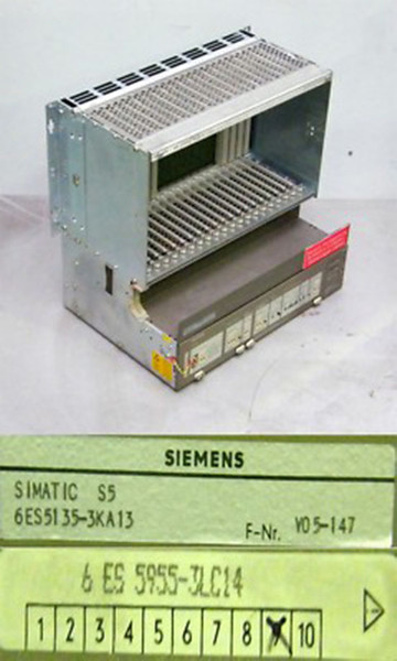 Siemens Simatic S5 6ES5 955-3LC14  6ES5955-3LC14 E:9 + 6ES5 135-3KA13 -used-