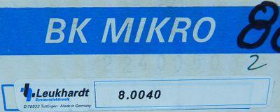 Leukhardt Systemelektronik BK Mirko 8.0040 TK2-40.03 -unused/OVP- – Bild 4