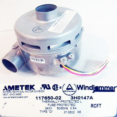 "AMETEK Gebläse 117650-02 3H0147A  240V 50/60Hz 3,5A Type ""D"" -unused-"