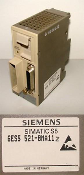 Siemens  Simatic S5  6ES5 521-8MA11Z 6ES5521-8MA11Z -used-