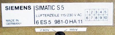 Siemens 6ES5 981-0HA11 6ES5981-0HA11 E-Stand: k.A. Lüfterzeile -used- – Bild 2