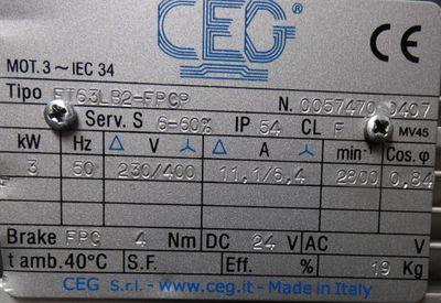 CEG-Electric Motors  ETSTD  ET63LB2-FPCP  ET63LB2FPCP  Drehstrommotor  -used- – Bild 2