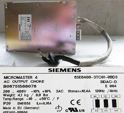 Siemens Micromaster 4 6SE6400-3TC01-0BD3