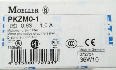 Eaton Moeller PKZM0-1 PKZM01 0,63-1,0A  Motorschutzschalter -unused/OVP- – Bild 1