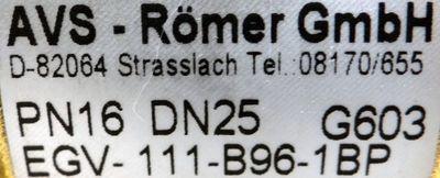 AVS-Römer 2/2 Wegeventil  EGV-111-B96-1BP PN16/DN25 -unused- – Bild 2