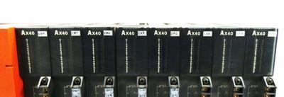 Mitsubishi Melsec Rack 1x A61P Power Supply + 8x AX40 Input Modul -used- – Bild 3